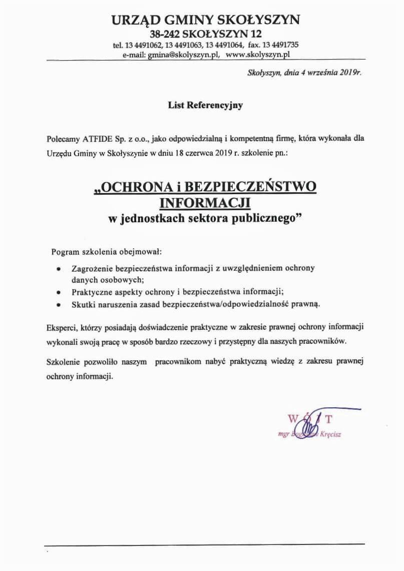 REFERENCJE_Urząd_Gminy_Skolyszyn